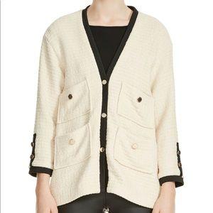 Maje Vega tweed jacket sweater cardigan